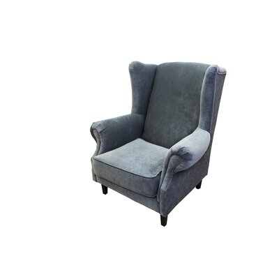 Caldervale Wingback Chair Upholstery: Gray