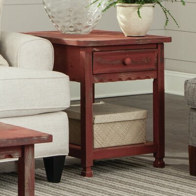 Bernardsville End Table Finish: Red