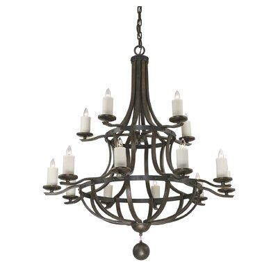 Wilburton 15-Light Metal Candle-Style Chandelier