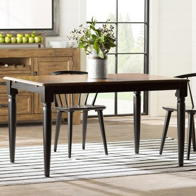 Marni Dining Table Color: Black and Tobacco