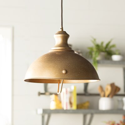 Rodriques 1-Light Metal Bowl Pendant Finish: Bellwether Copper