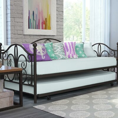 Baleine Daybed with Trundle Finish: Bronze, Size: Twin