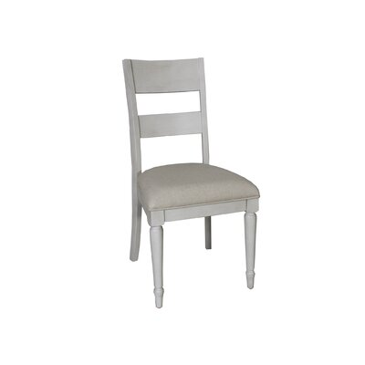 Saguenay Slat Back Side Chair (Set of 2) Finish: Dove Gray
