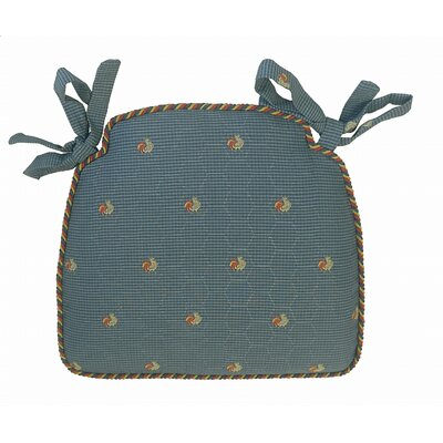 Tailored Dining Chair Cushion Fabric: Blue