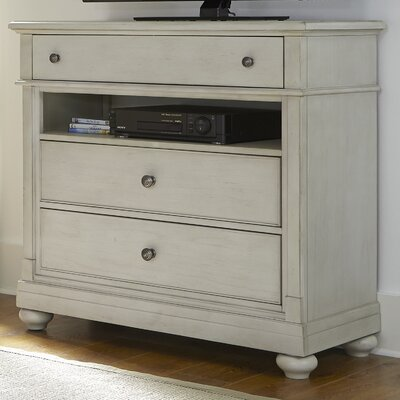 Saguenay 3 Drawer Media Chest Color: Dove Gray