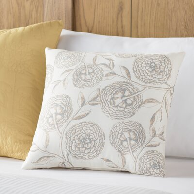 Swan Valley Blooms Antique Flower Throw Pillow Size: 26 H x 26 W, Color: Taupe