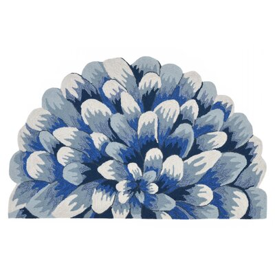 Ismay Hand-Tufted Blue Indoor/Outdoor Area Rug Rug Size: Rectangle 18 x 26
