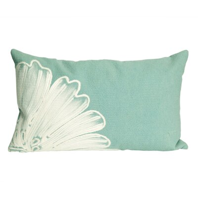 Temple Cloud Antique Medallion Outdoor Lumbar Pillow Color: Aqua