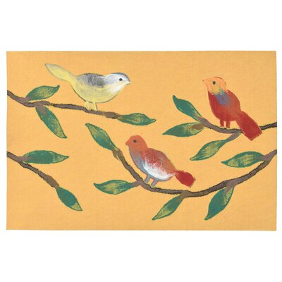 Vanier Chirp Birds Mat Color: Yellow