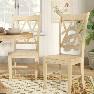 Imogene Cross Back Solid Wood Dining Chair