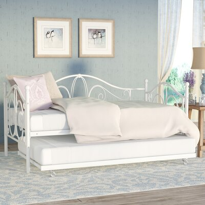 Baleine Daybed with Trundle Finish: White, Size: Full
