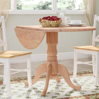 Carrie Round 42 Dual Drop Leaf Dining Table Finish: Unfinished