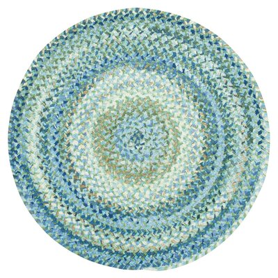 Wilhelmine Light Blue Area Rug Rug Size: Round 3