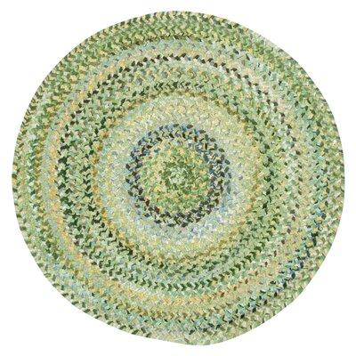 Wilhelmine Pale Green Area Rug Rug Size: Round 3