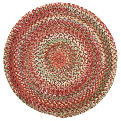 Wilhelmine Orange Area Rug Rug Size: Round 96