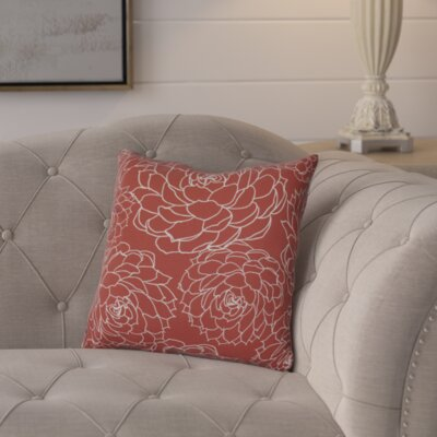 Neville Print Throw Pillow Size: 16 H x 16 W x 3 D, Color: Orange