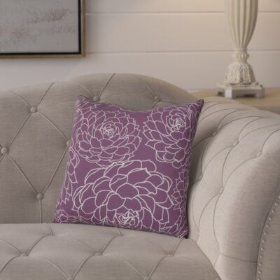 Neville Print Throw Pillow Size: 18 H x 18 W x 3 D, Color: Purple