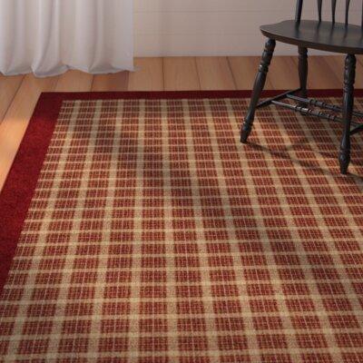 Dancy Merlot Red/Beige Area Rug Rug Size: 53 x 76