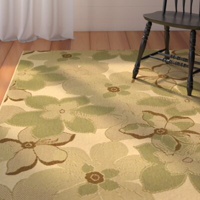 Short Natural Brown / Olive Rug Rug Size: Rectangle 4 x 57