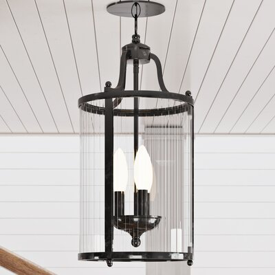 Tessie 3-Light Foyer Pendant Finish: Black
