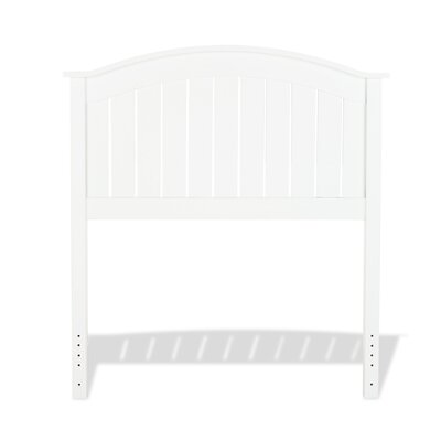 Goodridge Panel Headboard Size: Twin, Color: White
