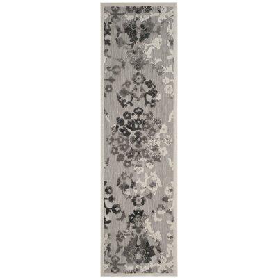 Suri Gray/Dark Gray Area Rug Rug Size: Runner 23 x 8