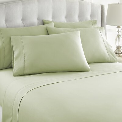 Grandin 1000 Thread Count Sheet Set Size: King, Color: Sage