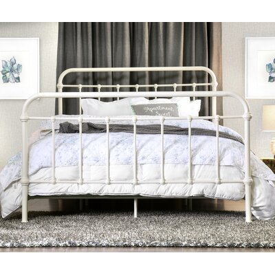 Walnut Grove Panel Bed Size: California King, Finish: Vintage White