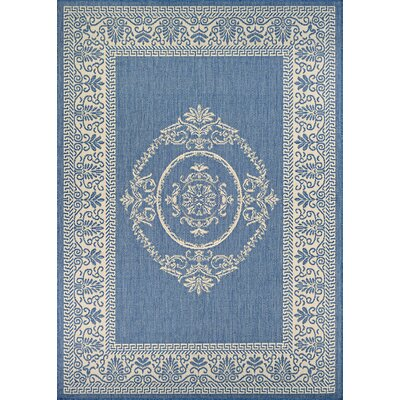 Miley Blue Indoor/Outdoor Area Rug Rug Size: 39 x 55