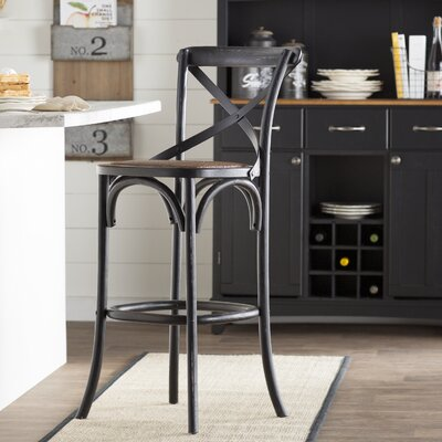 Essie 30.7 Bar Stool Frame Color: Black