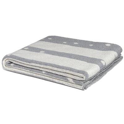 Cassey Birch Throw Blanket Color: Aluminum