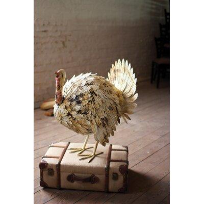 Painted Metal Turkey Statue