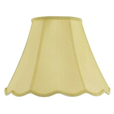 Piped 14 Fabric Bell Lamp Shade Finish: Champagne