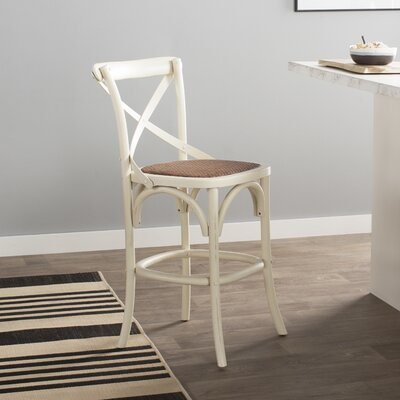 Essie 24.4 Bar Stool Frame Color: Distressed Ivory