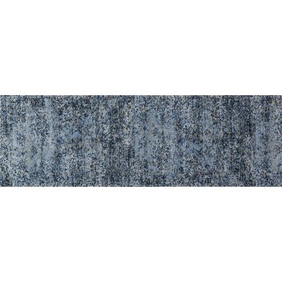 Aurora Light Blue/Gray Indoor Area Rug Rug Size: Runner 25 x 77