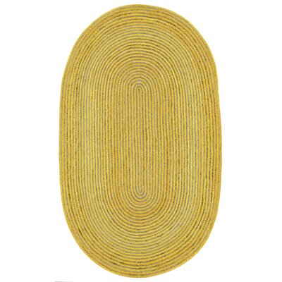 Latour Hand-Loomed Yellow Area Rug Rug Size: 4 x 6