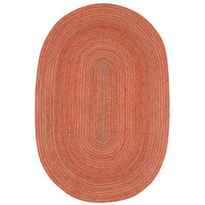 Latour Hand-Loomed Orange Area Rug Rug Size: Rectangle 4 x 6