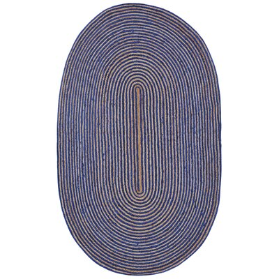 Latour Hand-Loomed Blue Area Rug Rug Size: Rectangle 5 x 8