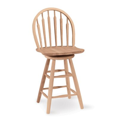 Toby 24 Swivel Wood Bar Stool Color: Unfinished