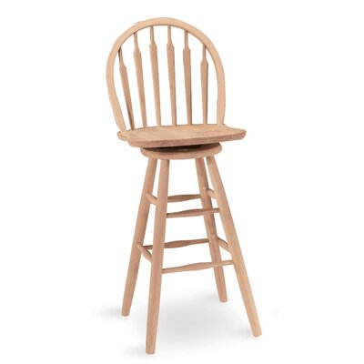 Toby 30 Swivel Bar Stool Finish: Unfinished