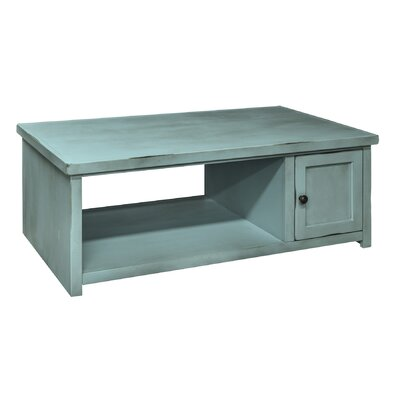 Bess Coffee Table Finish: Blue