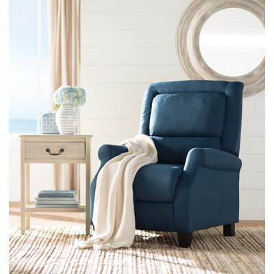 Tiffin Manual Recliner Upholstery: Dark Blue