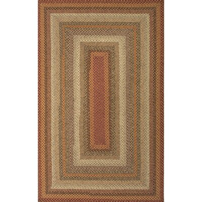 Union Point Red/Ivory Geometric Area Rug Rug Size: Oval 5 x 8