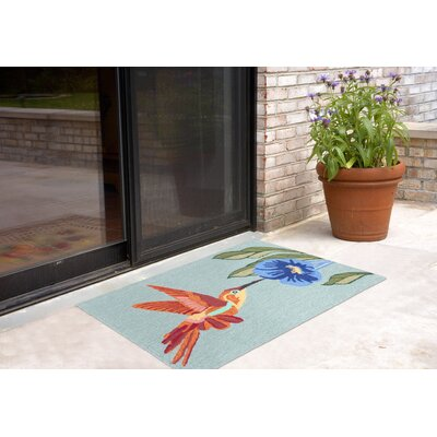 Ismay Hummingbird Doormat Color: Blue