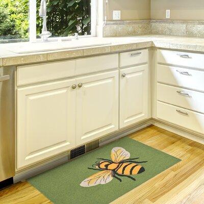 Ismay Hand-Tufted Green Indoor/Outdoor Area Rug Rug Size: 2 x 3
