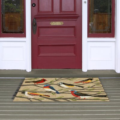 Ismay Birds Neutral Indoor/Outdoor Area Rug Rug Size: Rectangle 2 x 5