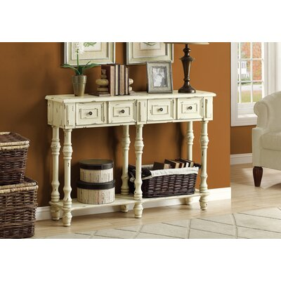 Kimberly Console Table Finish: Antique White