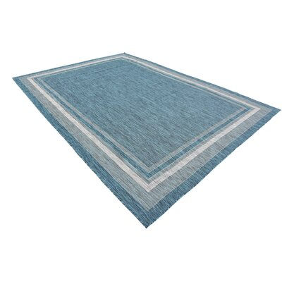 Keira Teal Outdoor Area Rug Rug Size: Rectangle 7 x 10