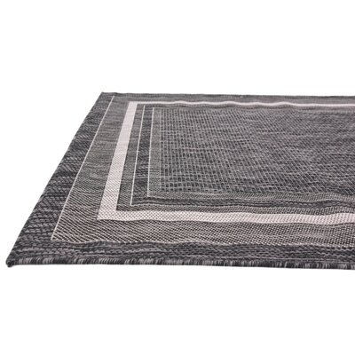 Kennedy Black Outdoor Area Rug Rug Size: Rectangle 4 x 6