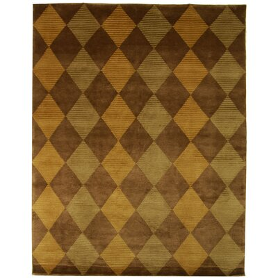 Pharris Hand-Woven Brown Area Rug Rug Size: Rectangle 8 x 10